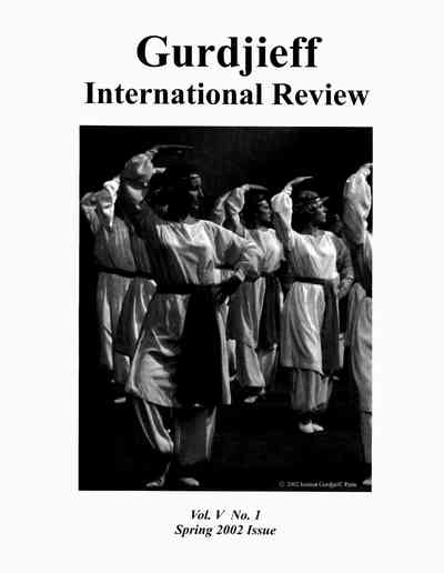 Gurdjieff International Review (vol. V, nr.1)