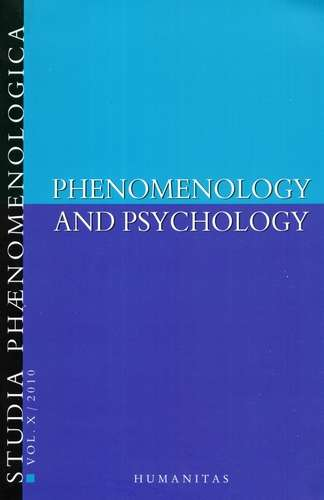 Studia Phaenomenologica - Phenomenology and Psychology