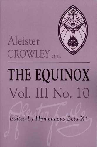 Aleister Crowley - The Equinox