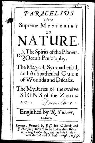 Paracelsus - Of the Supreme Mysteries of Nature