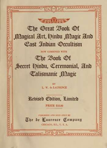 L.W. de Laurence - The Great Book of Magical Art