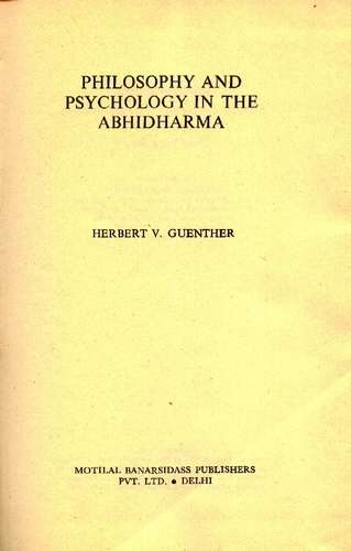 Herbert V. Guenther - Philosophy and Psychology - Click pe imagine pentru închidere