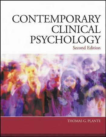 Thomas G. Plante - Contemporary Clinical Psychology
