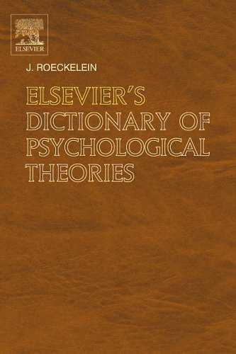 J. Roeckelein - Elsevier's Dictionary of Psychologycal Theories
