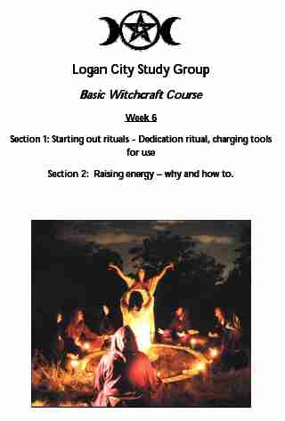 A Witchcraft Course